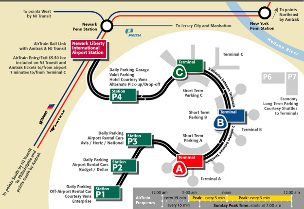 Airtrain Newark Gt Map And Service Guide